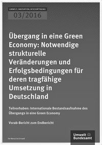 "Cover of ""Übergang in eine Green Economy"", part 1"
