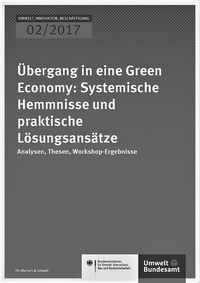 "Cover of ""Übergang in eine Green Economy"", Teil 2"